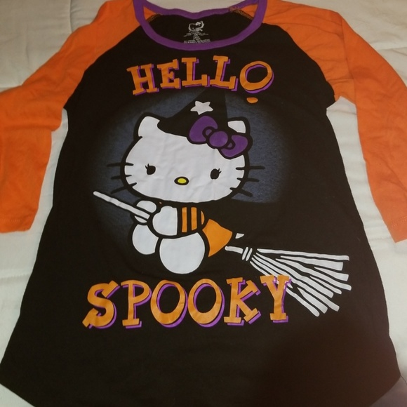 d23a9c44 Hello Kitty Shirts & Tops   Halloween Tshirt Lg 1113   Poshmark